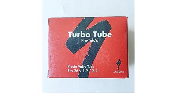 SPECIALIZED Turbo Tubo Pre talco d: 38 mm Presta válvula tubo (26 x 1,9/2.2): Amazon.es: Deportes y aire libre