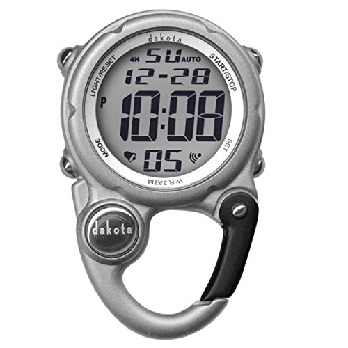 Dakota Digital Clip Mini Watch - Water Resistant - Silver (Dakota Watch Mini Clip)