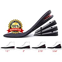 """Height Increase Insole, 4-Layer Orthotic heel shoe lift kit with Air cushion Elevator Shoe Insole lifts kits Inserts for Men & Women Taller Insoles 1.2"""" to 3.5"""" variable height adjustable by MT-AMZ"""
