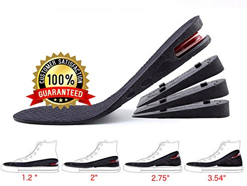 le, 4-Layer Orthotic heel shoe lift kit with Air cushion Elevator Shoe Insole lifts kits Inserts for Men & Women Taller Insoles 1.2