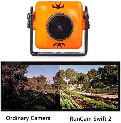 RunCam Swift 2 600TVL FPV Camera Mini 2.1mm for Racing Drone FPV Drones 165 Degree 5-36V for Multicopter Orange Swift2 with 1 PCS RGB LED BAR