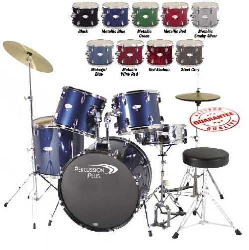 percussion-plus-pp4100bk-5-piece-drum-set-black
