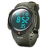 M400 Polar Band Best Deals - SKMEI Military Style Digital LCD Display Sporty Wrist Watch EL Backlight For Men Women Boys Girls-Army