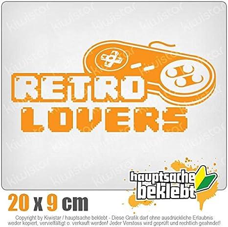 Retro Lover Controler zocken Spiele Games KIWISTAR Aufkleber Autoaufkleber Sticker Bomb Decals Tuning Bekleben