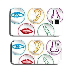 Five senses icon set - Vector Illustration cell phone cover case iPhone6 Plus