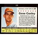 1961 Post Cereal Regular Baseball Card 124 Gene Conley