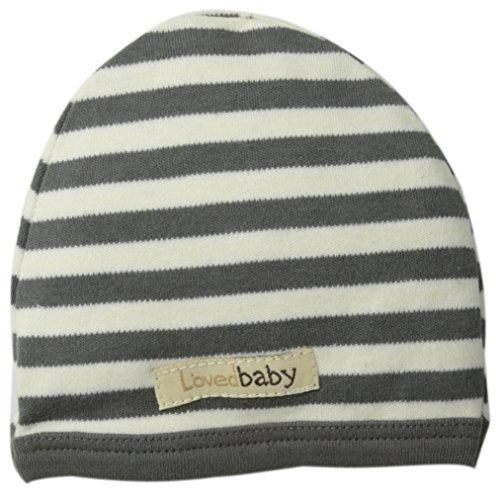 L'ovedbaby Unisex-Baby Newborn Organic Cute Cap, Gray/Beige, 0/3 Months