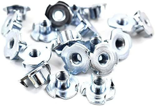 Furniture M10 x 13mm 4 PRONGED TEE NUT Shop Fitting Pack of 50 HEADBOARD BZP Nuts