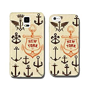 Vector. Set of anchor symbols cell phone cover case Samsung S6