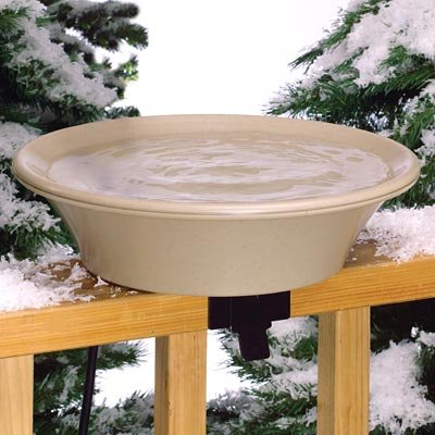 Allied Precision 14 in. Heated Bird Bath with EZ-Tilt Deck/Pole (Heated Birdbath Deck)