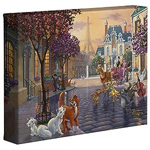 Thomas Kinkade Studios Disney The Aristocats 8″ x 10″ Gallery Wrapped Canvas