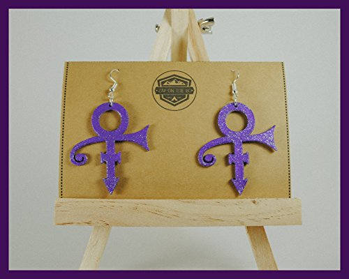 Prince Earrings | Love Symbol | Geek Gifts | Music Gifts | Gifts for Her | Ear Decoration | The Artist | Purple Rain