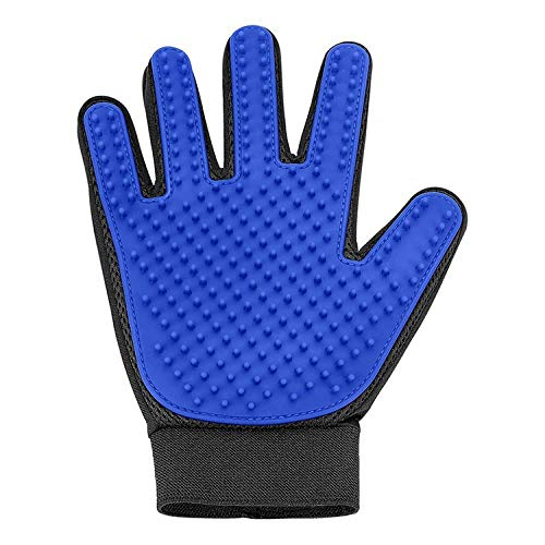 Luxe & Fur Pet Grooming Glove [Upgraded Version] – Blue Gentle Deshedding Pet Hair Remover. Cat Brush and Dog Brush for…