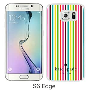 DIY Hot Sale Samsung Galaxy S6 Edge Case,Kate Spade 27 White New Design Samsung Galaxy S6 Edge G9250 Phone Case