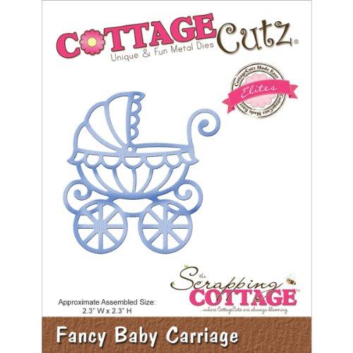 CottageCutz Elites Die Cuts, 2.3 by 2.3-Inch, Baby Carriage