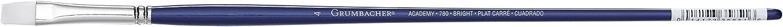 Grumbacher Academy Oil and Acrylic Bright Brush Size 5 White Nylon Bristles 780B.5