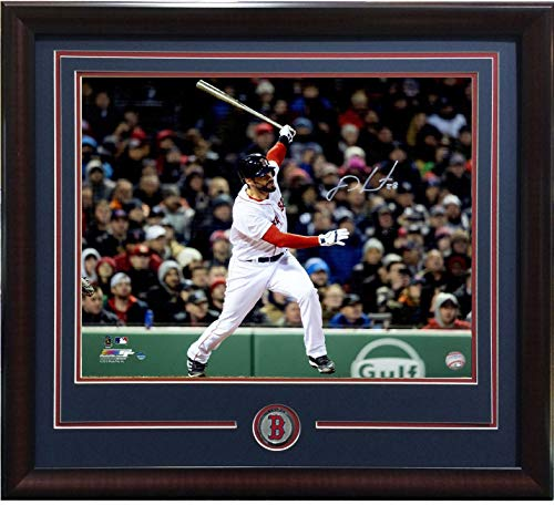 JD Martinez signed 16x20 photo framed Red Sox coin autograph Steiner COA MVP ?