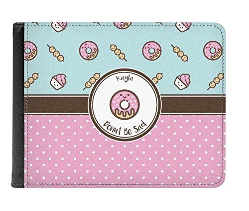Genuine Personalized Wallet Men's Leather Donuts Donuts fold Genuine Bi E0nq186xT