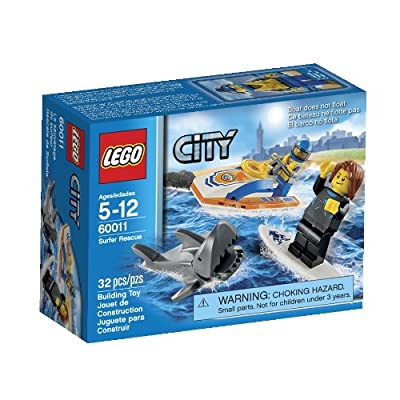 Shark and Surfer Lego Rescue Toy Building Set