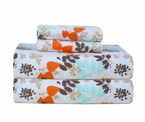 Pointehaven Heavy Weight Printed Flannel Sheet Set, King, Winter Breeze