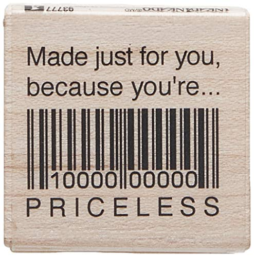 - Inkadinkado ''Made Just for You'' Motivational Wood Stamp for Arts and Crafts, 1.5'' W x 1.5'' L