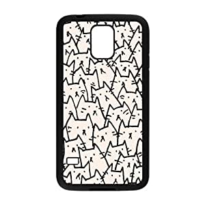 HDSAO Cute Cat drawing Cell Phone Case for Samsung Galaxy S5