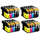 O'Image 20-Pack LC201 LC203 LC203XL Ink Cartridge Replacing for Brother MFC-J460DW J480DW J485DW J680DW J880DW J885DW J4320DW J4420DW J4620DW J460DW J5520DW J5620W J5720DW Series Printer (20-Pack: 8K.4C.4M.4Y)