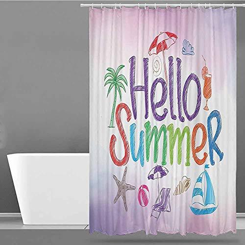 XXANS Bathtub Splash Guard,Lifestyle,Shower Curtain bar,W36x72L Lilac