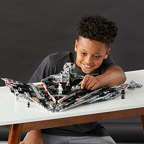 513 dtMxRJL - LEGO Star Wars VIII First Order Star Destroyer 75190 Building Kit (1416 Piece)