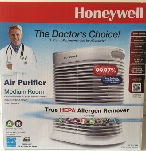 Honeywell HPA105-TGT True HEPA Air Purifier Microscopic Allergens Medium Room by Honeywell