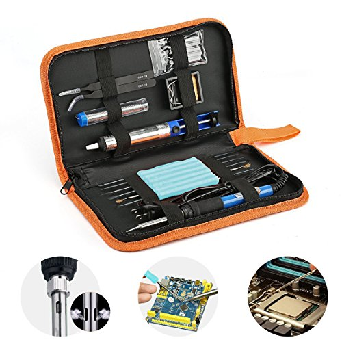 17-in-1-welding-iron-kits-ezykoo-60w-110v-adjustable-temperature-soldering-gun-with-working-led-indi