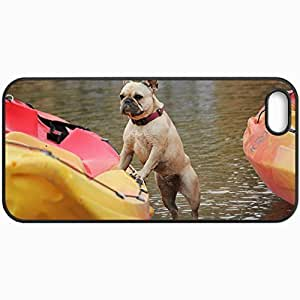 Customized Cellphone Case Back Cover For iPhone 5 5S, Protective Hardshell Case Personalized Dog Black