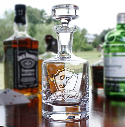 Engraved Decanter for Whiskey, Scotch, Bourbon by Crystal Imagery Engraved Glass Gifts
