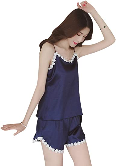LONMEI Pijamas de Mujer Sexy Verano - 2 Piezas Pijamas para ...