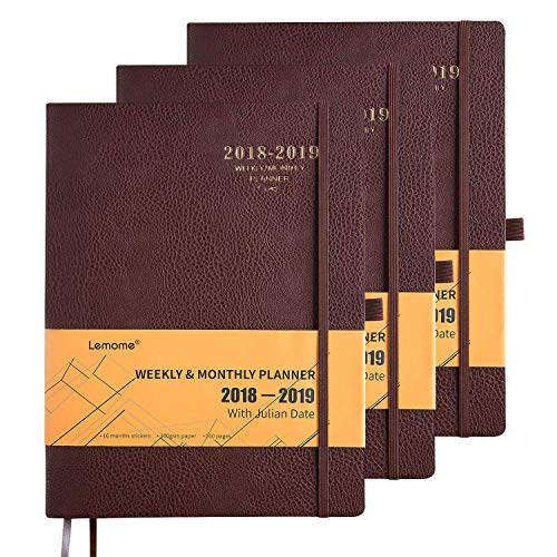 Planner 2018-2019 with Pen Holder -Academic Weekly, Monthly and Yearly Planner. Thick Paper, 8.5