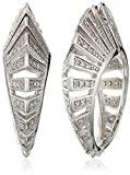 nOir Jewelry Rhodium and Clear Modernist Earrings
