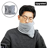 Lulutus Soft Travel Neck Support Pillow for Flights - Best Travel Accessories for Airplanes,Trains and Cars - New Arrival,Grey