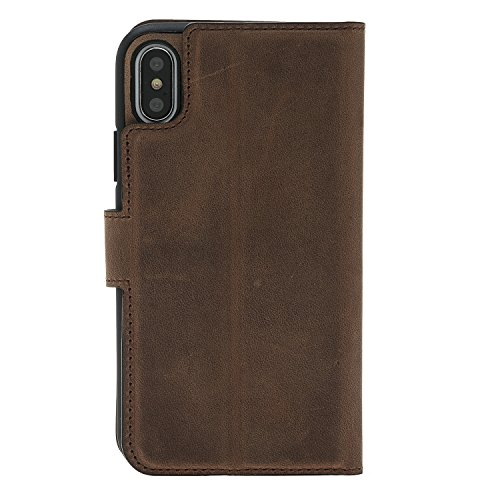 iPhone 8custodia in pelle–Magic in stile anticato, marrone