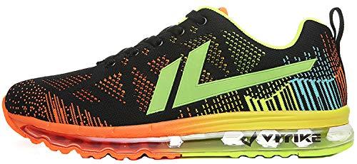 VITIKE Uomo Donna Air Scarpe da Ginnastica Corsa Sportive Fitness Running Sneakers Basse Interior Casual all'Aperto 1-arancione