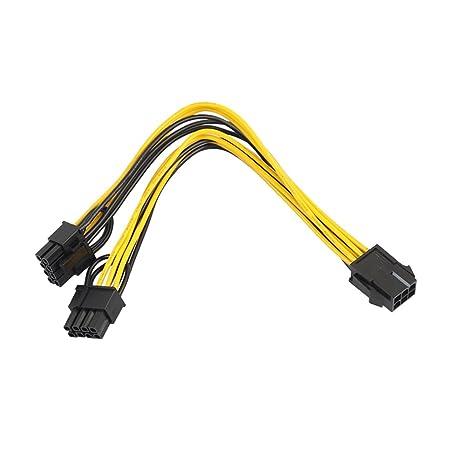 6 pin hembra a 8 Pin conector PCI Express Power Converter ...