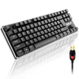 AULA Anti-ghosting 87 Keys Mechanical Gaming Keyboard with Blue Switches,USB Plug By AFUNTA -Black