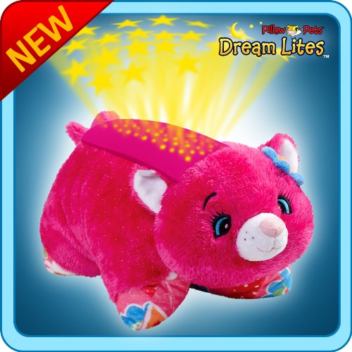 My Pillow Pets Dream Lites Flower Power Cat