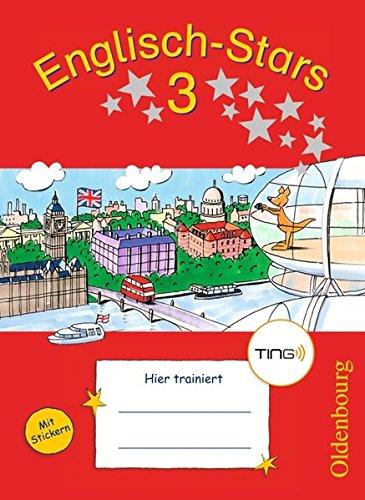 Englisch-Stars - TING-Ausgabe: 3. Schuljahr - Übungsheft: Mit Lösungen
