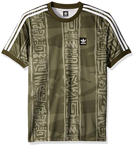 - adidas Originals Men's Dakari Jersey, Night Cargo/raw Khaki/White, X-Large