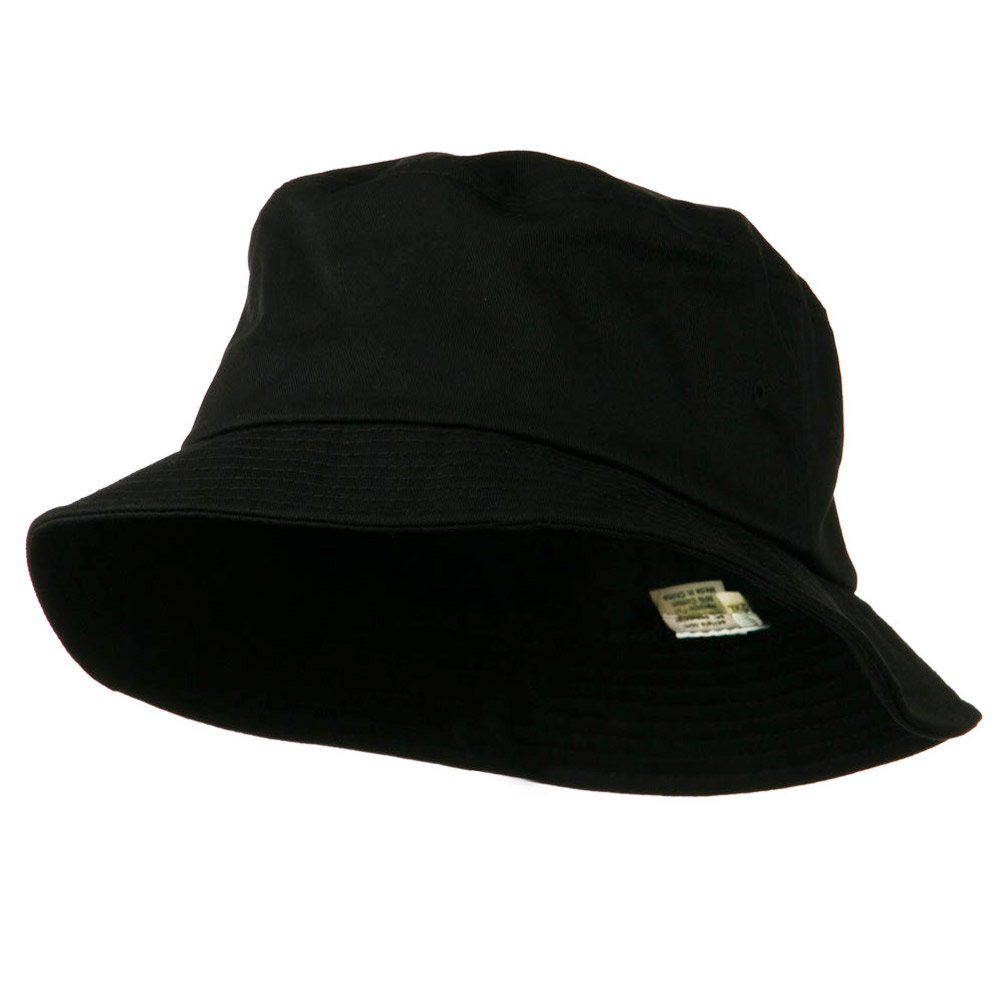 cff7a5b4 Big Size Cotton Blend Twill Bucket Hat - Black (For Big Head)
