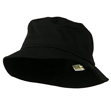 a5c91d5bea1 E4hats Big Size Cotton Blend Twill Bucket Hat - Black W08S28F (XL-2XL)