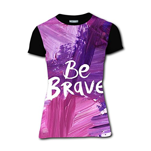 Superwoman Cheap Halloween Costumes (Be Brave Quote T-shirts Tee Shirt for Women Tops Round Black L)