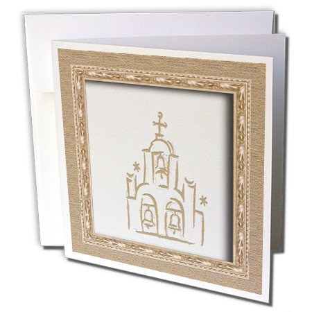 3dRose Spanish Church - Greeting Cards, 6 x 6 inches, set of 12 (gc_22408_2)