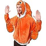 Adult Clown Fish Costume, Size Adult Standard