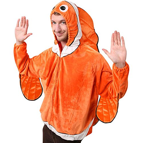Adult Clown Fish Costume, Size Adult